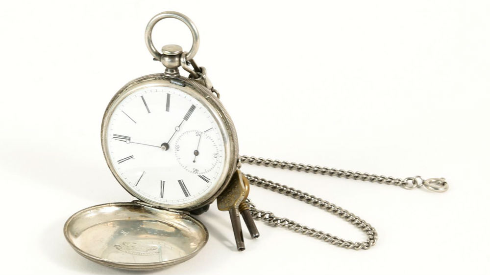 J Jacot Locle Coin Silver Pocket Watch AB1A