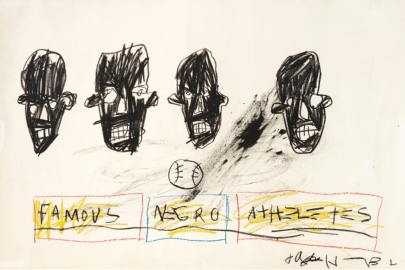 Jean-Michel Basquiat's 'Famous Negro Athletes' is going to auction in November 2019.