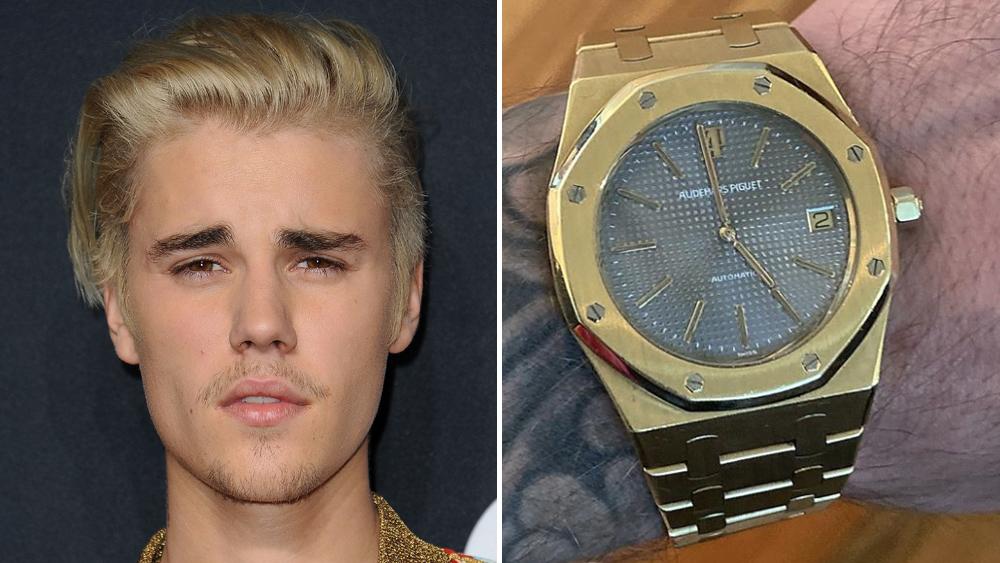 Justin Bieber and Audemars Piguet watch