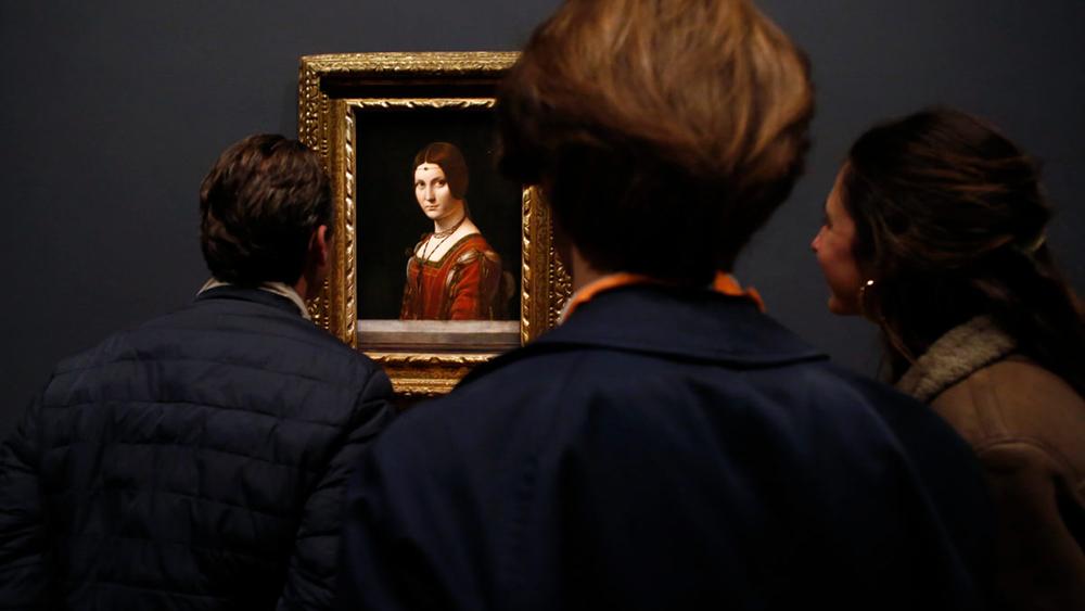 Leonardo da Vinci's La Belle Ferronnière at the Louvre