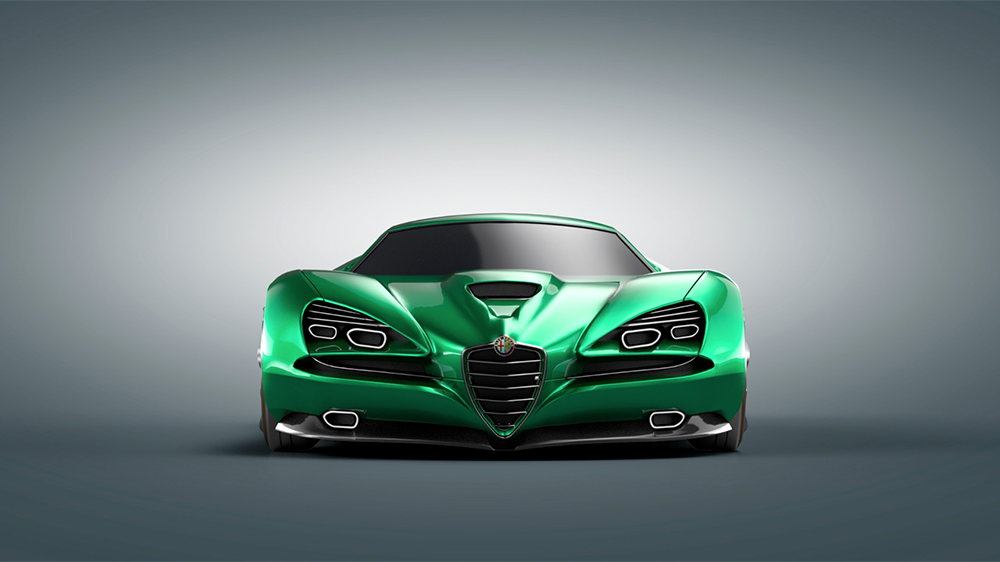 Luca Serafini's Alfa Romeo Montreal Vision GT concept