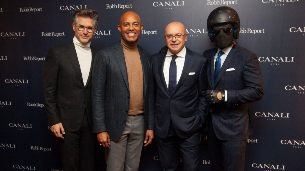 Eric Rutherford, Mariano Rivera, Giorgio Canali and the Suited Racer