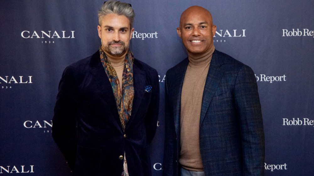Robb Report Editor-in-Chief Paul Croughton and Mariano Rivera