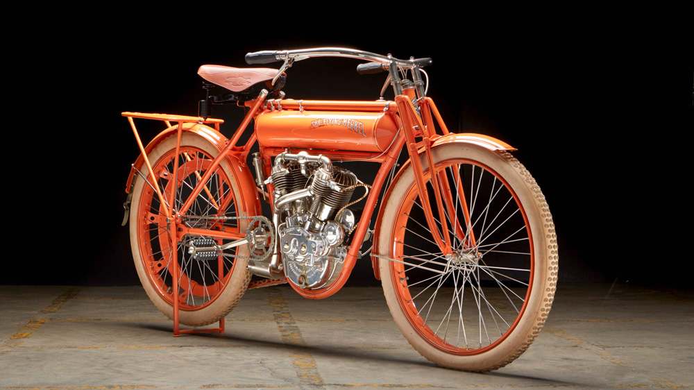A 1910 Flying Merkel 884 cc Twin Engine.