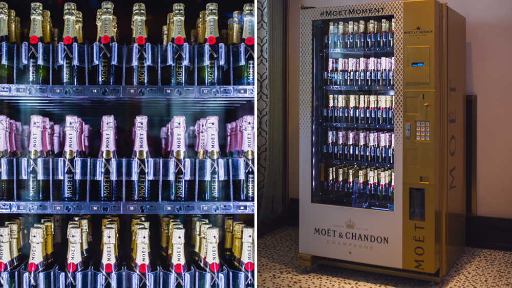 Moet Chandon Champagne Vending Machine