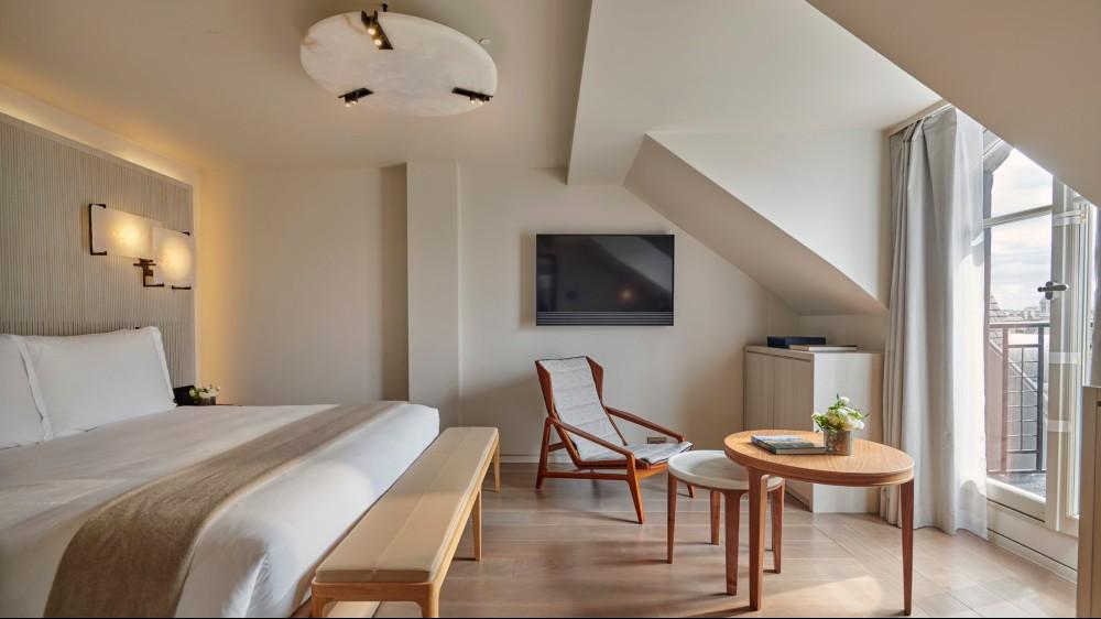 Lutetia Paris penthouse bedroom