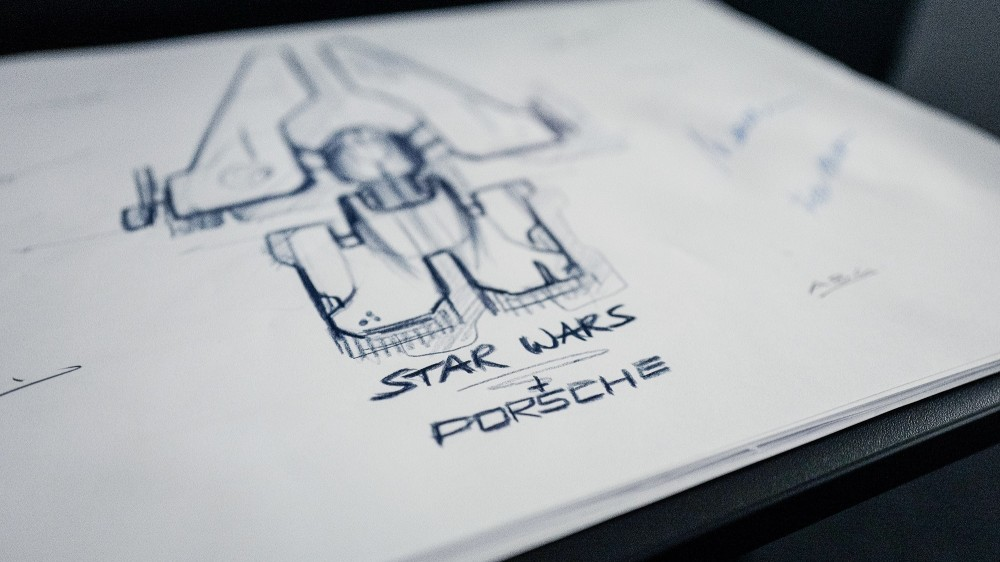 Porsche and Lucasfilm are designing a Star Wars starship together