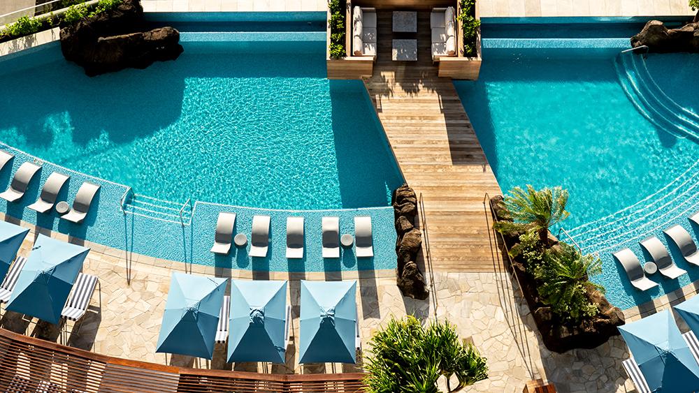 The pool at the Ritz Carlton Hawaii