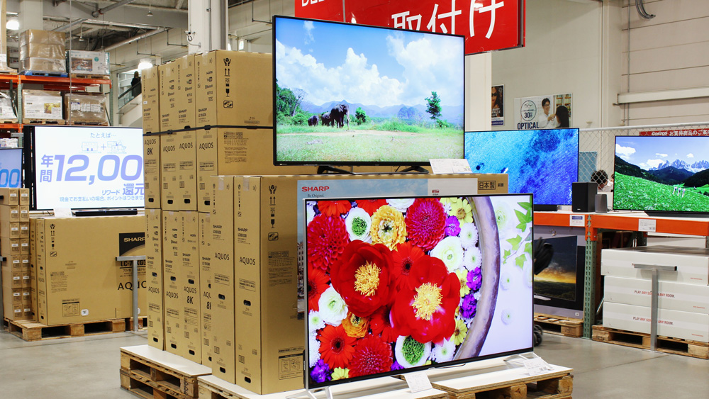 Sharp's 8K Aquos at a Costco in Japan.