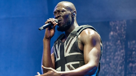 Stormzy performing at the Glastonbury Festival on June 28, 2019