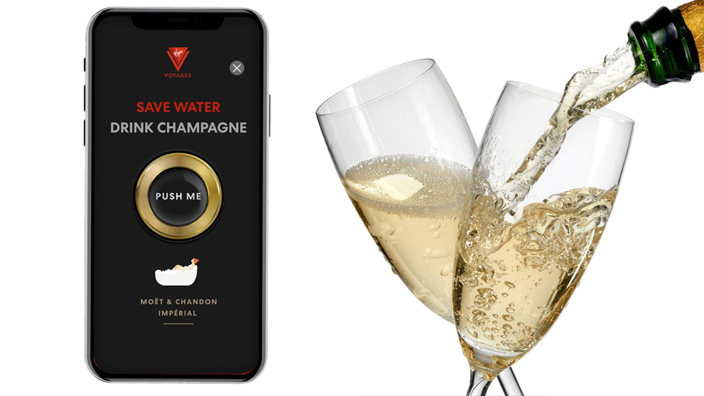 Virgin Voyages Shake for Champagne