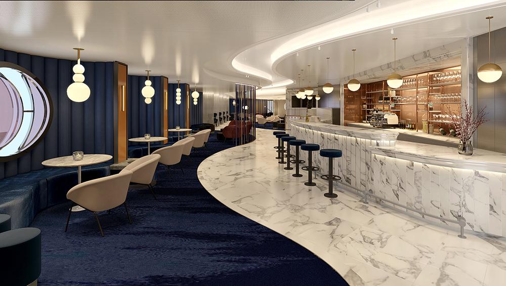 Virgin Voyages Sip Champagne Lounge