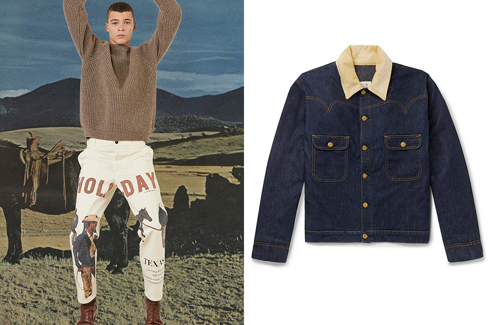 Western-influenced fall 2019 pieces from the French brand Holiday Boileau.