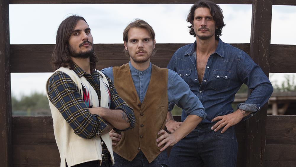 The co-founders of Barbanera, Sergio Guardi, Alessandro Pagliacci and Sebastiano Guardi.