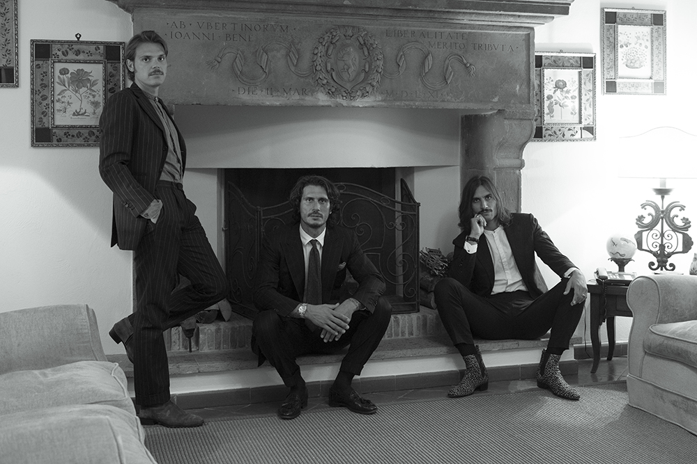 From left, Alessandro Pagliacci, Sebastiano and Sergio Guardi, the co-founders of Barbanera.