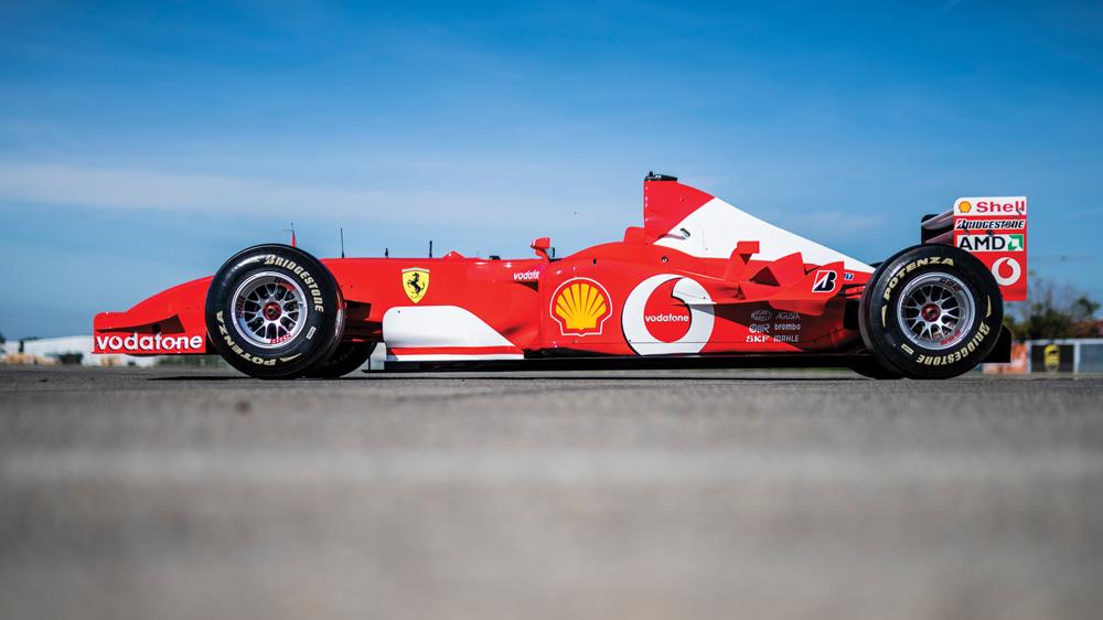 A Ferrari F2002.