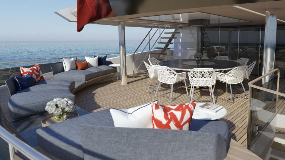 The Sunseeker 161's wheelhouse deck