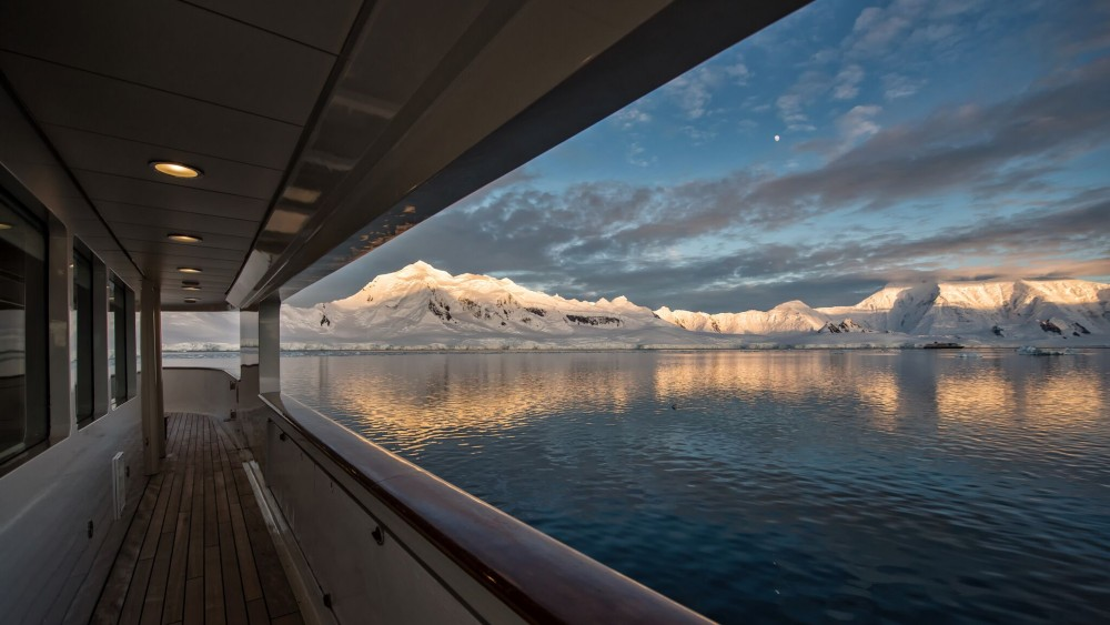 Nota Bene Antarctica Superyacht view