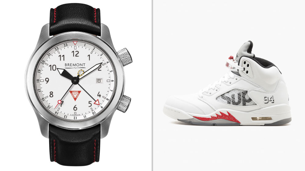 Bremont Martin Baker MBIII 10th Anniversary paired with Supreme x Air Jordan 5