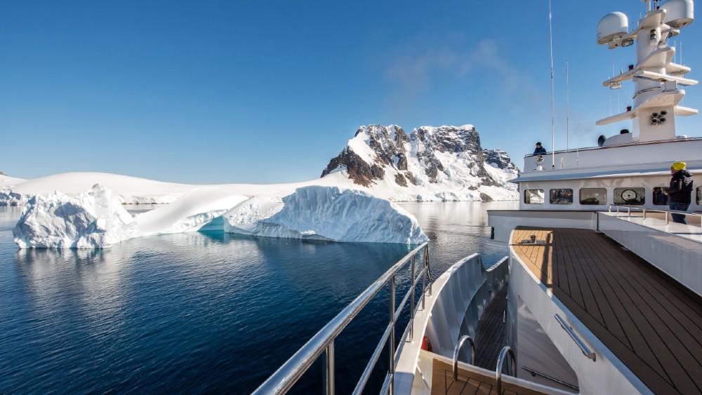 superyacht views Antarctic
