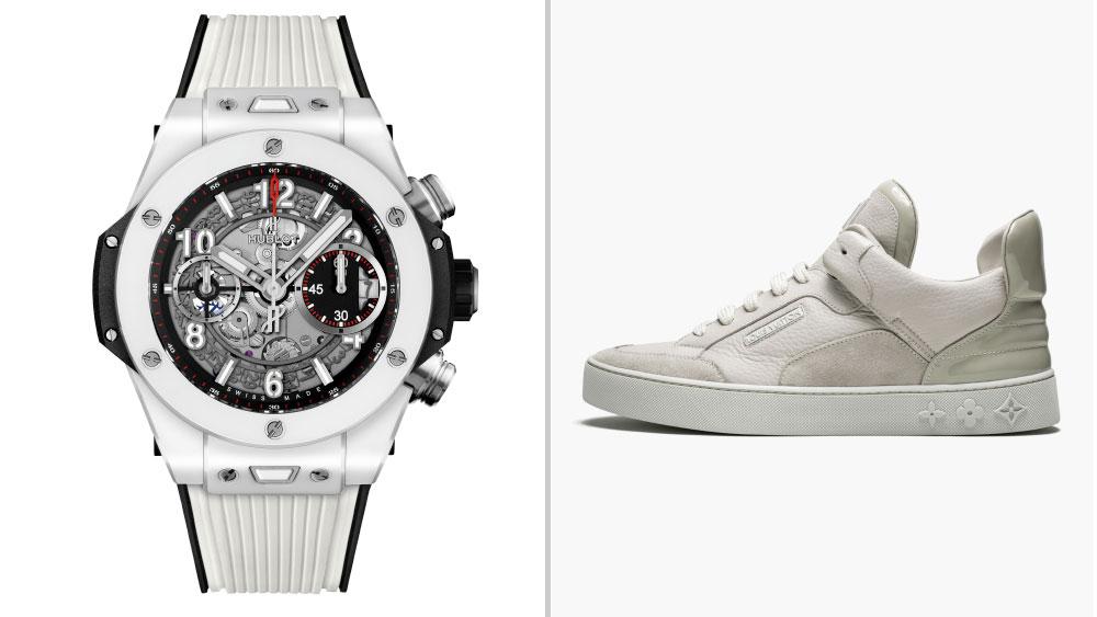 "Hublot Big Bang Unico King White Ceramic paired with Kanye West x Louis Vuitton Don ""Cream"""