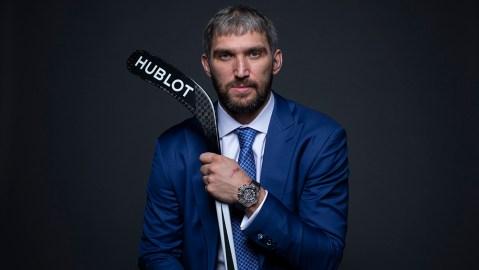 Alexander Ovechkin is Hublot's first hockey playing brand ambassador.