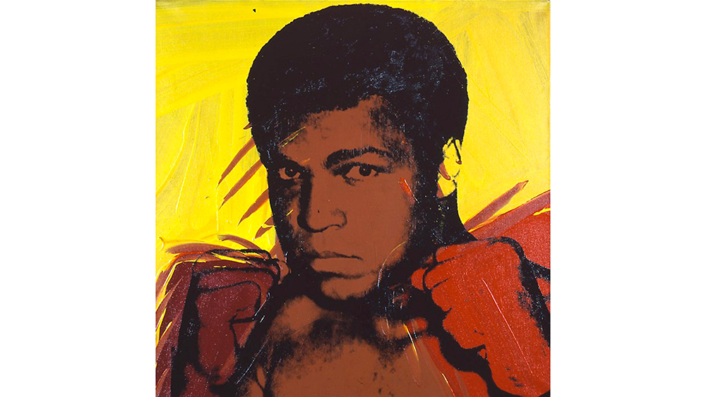 Andy Warhol's Muhammad Ali, 1977, sold for $10 million.