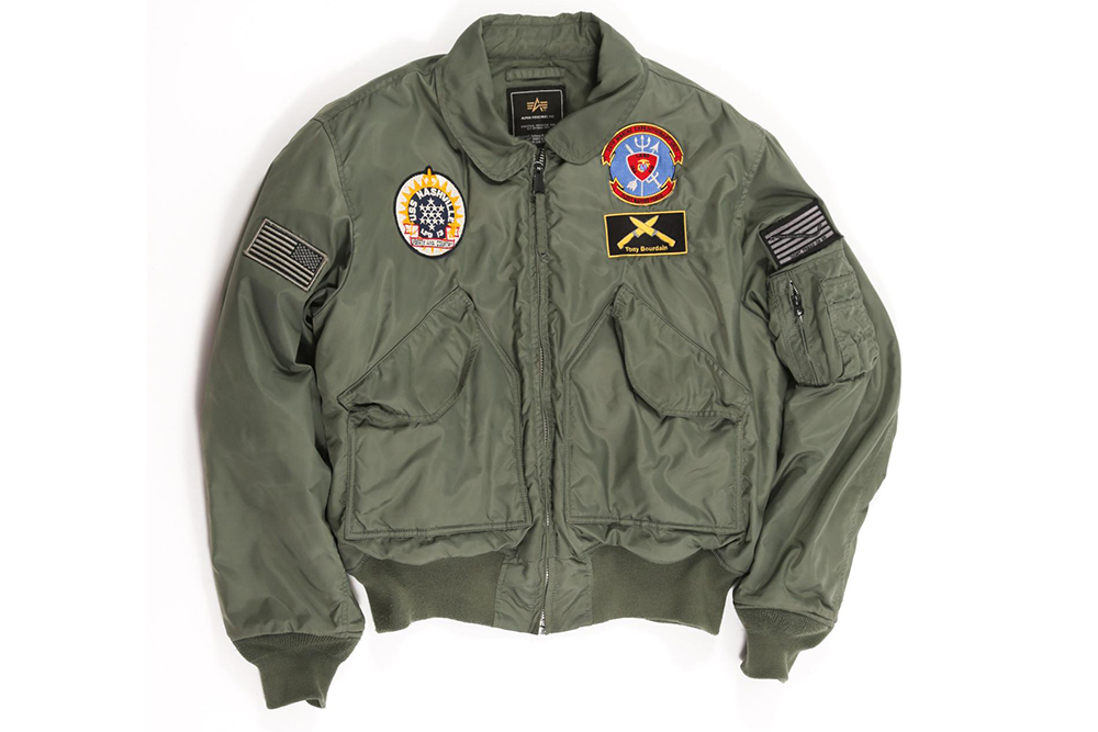 A custom US Navy Jacket owned by Anthony Bourdain earned $ 171,250 at auction.