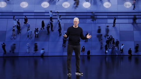 Apple CEO Tim Cook speaks during the Apple Special Event in the Steve Jobs Theater at Apple Park in Cupertino, California, USA, 10 September 2019.Apple Special event at Apple Park