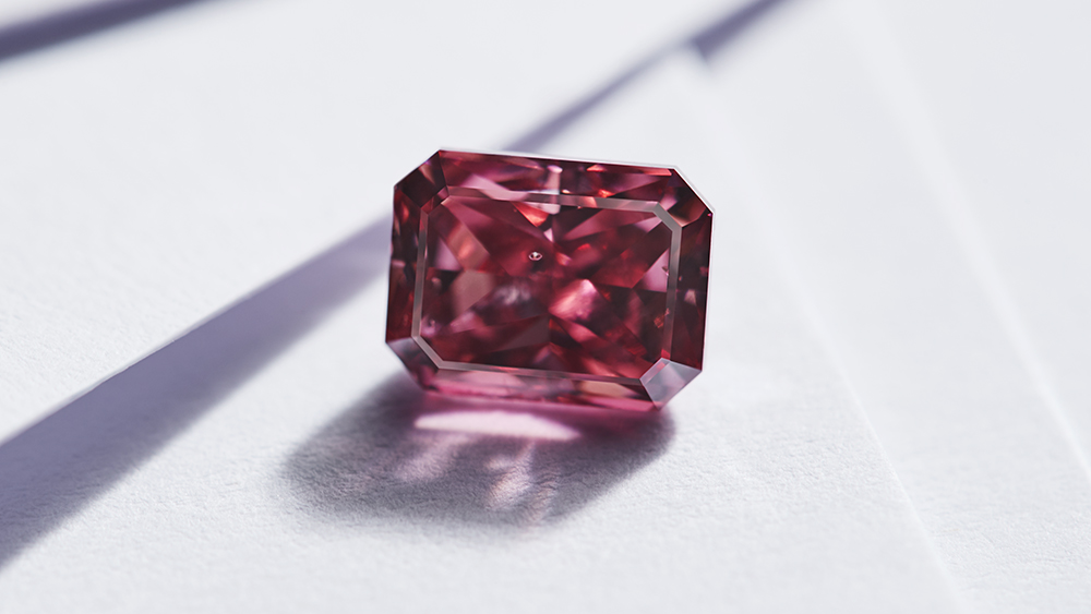 The Argyle Enigma, a 1.75-carat fancy red, radiant-cut diamond, offered in this year's tender