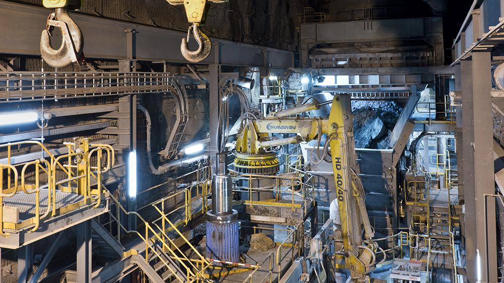 The Argyle mine, about 1,600 feet underground