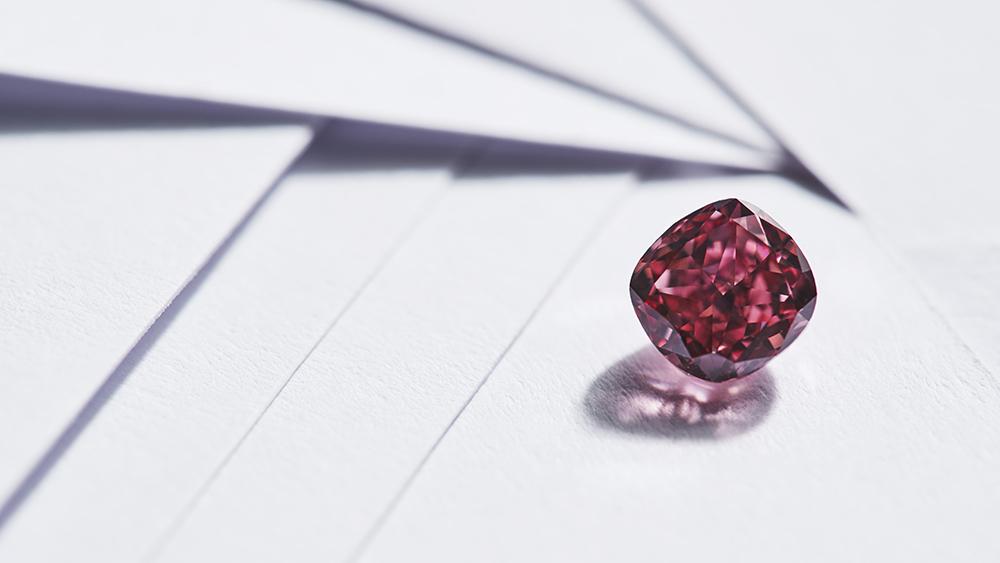 The Argyle Elysian, a 1.20-carat fancy vivid pink, cushion cut