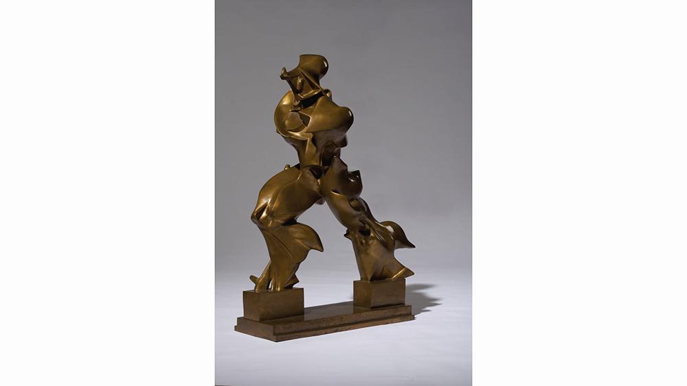 Umberto Boccioni's bronze sculpture Forme uniche della continuità nello spazio (Unique Forms of Continuity in Space), 1913/72, sold for $16.2 million.