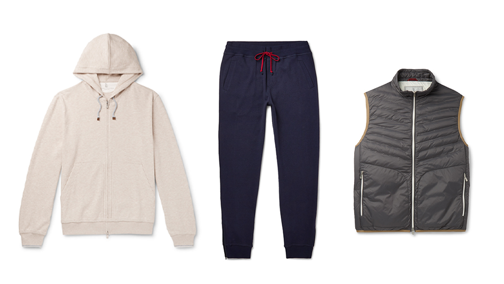 Brunello Cucinelli's new Gymnasium collection for Mr Porter Might be the most luxurious workout gear on the market.