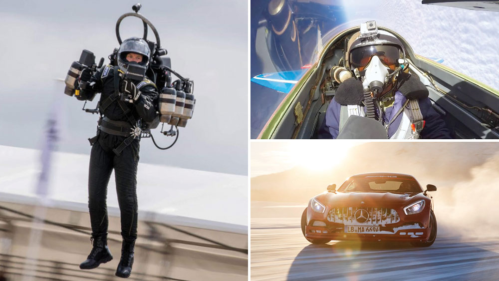 Flying with JetPack Aviation, FlyFighterJet.com, The AMG Driving Academy's Winter Sporting course.