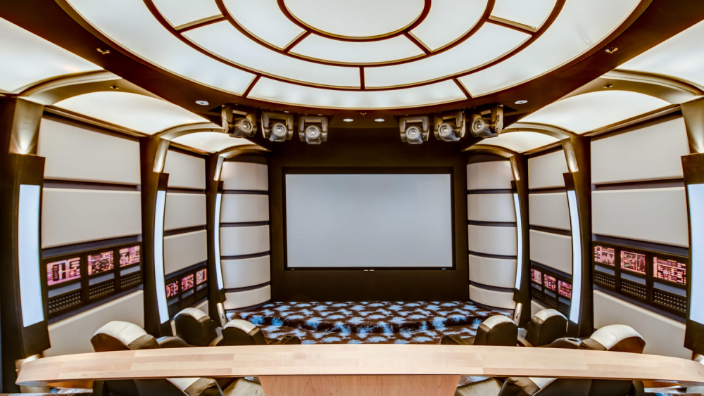 The movie theater.