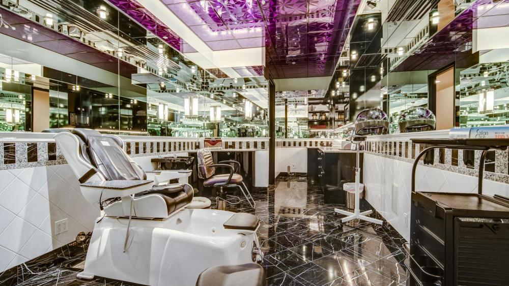 The beauty salon.