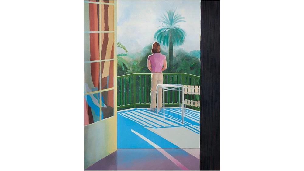 David Hockney's Sur la Terrasse, 1971, sold for $29.5 million.