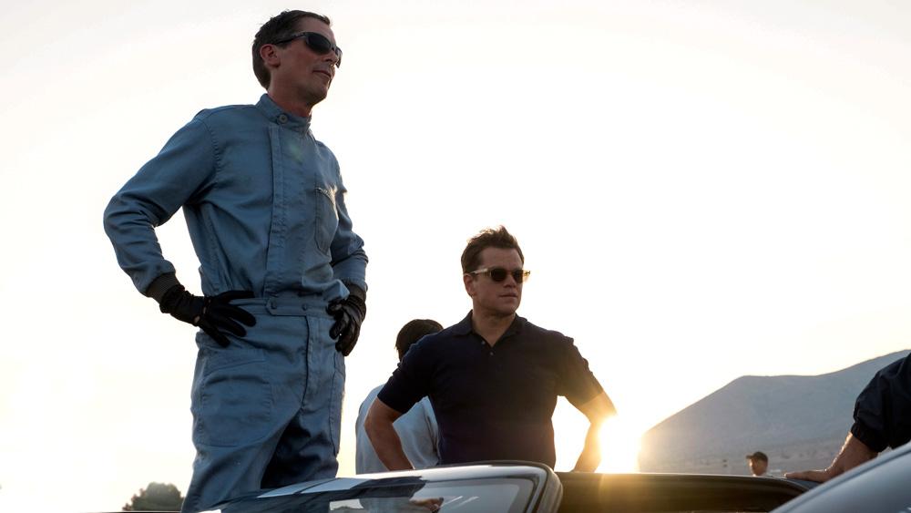 A scene from the film 'Ford v Ferrari.'