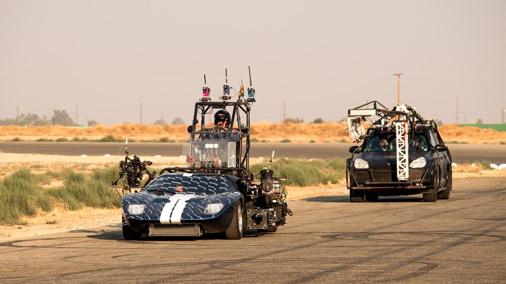 Filming the movie Ford v Ferrari.'