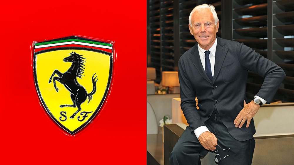 Ferrari just announced a new clothing partnership with Armani.
