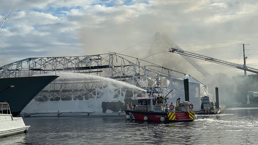 Florida Megayacht Fire