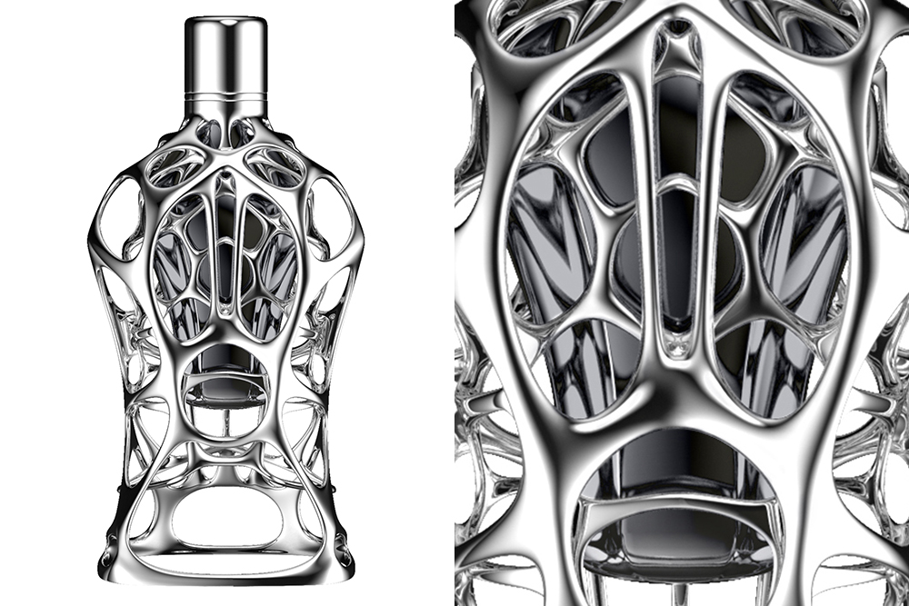 Compact Suspension, from Formula 1's new line of fragrances, will be housed in 3D printed bottles and may retail for as much as $10,000.