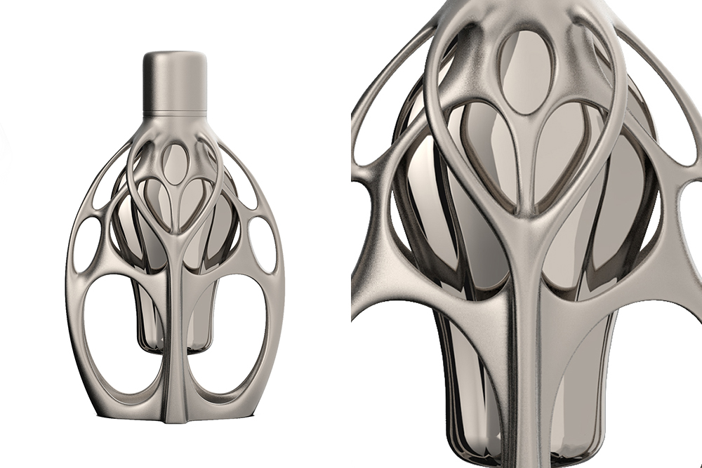 Fluid Symmetry, from Formula 1's new line of fragrances, will be housed in 3D printed bottles and may retail for as much as $10,000.