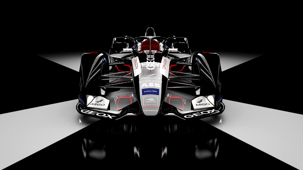 Formula E's Geox Dragon racing team debuts new livery for sixth season.