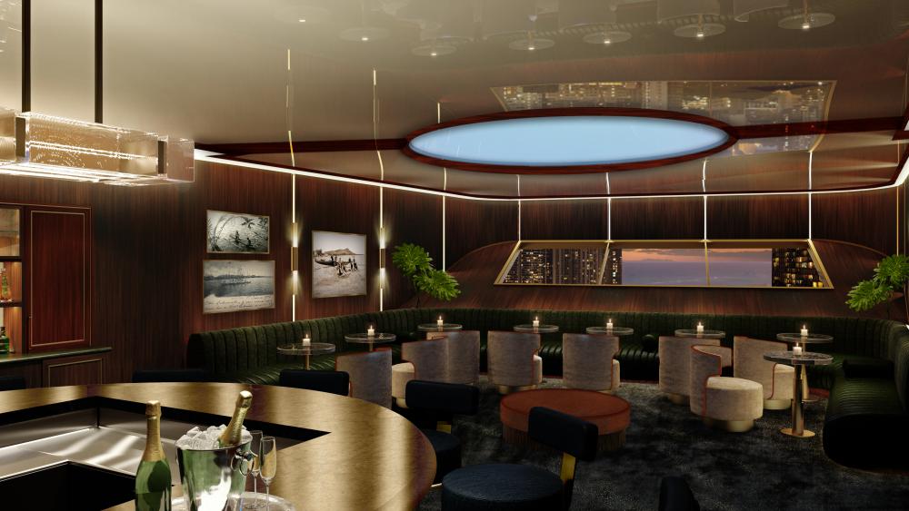 The speakeasy-inspired restaurant.