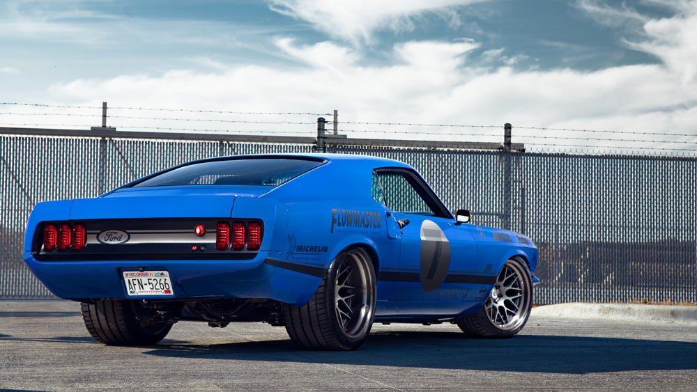 A 700 hp Ford Mustang Mach 1 modified by Ringbrothers.