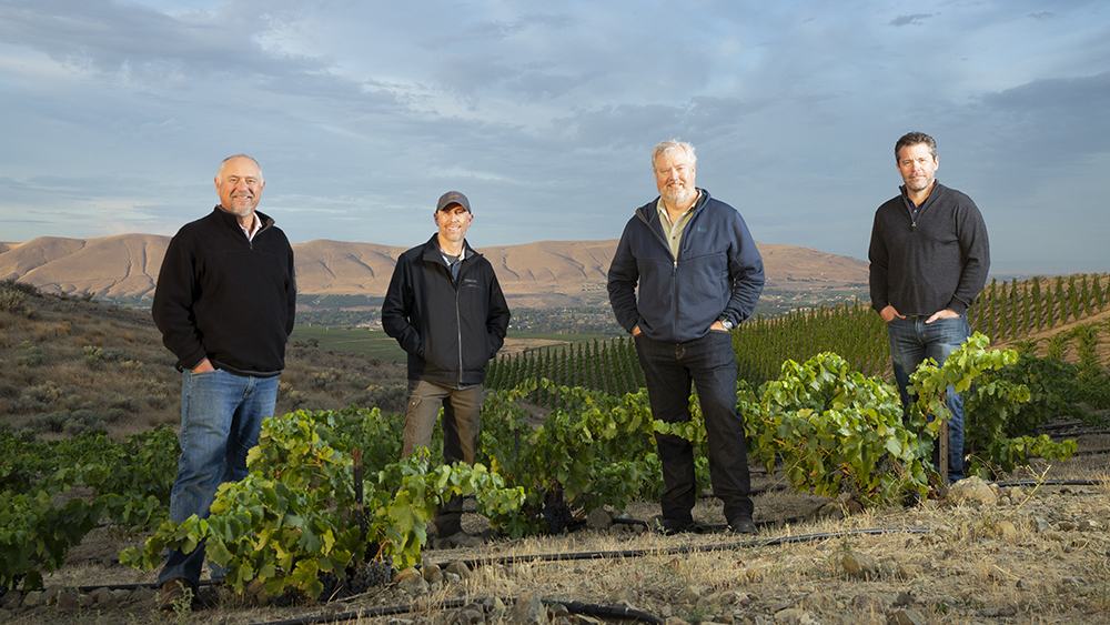 The partners of Liminal winery