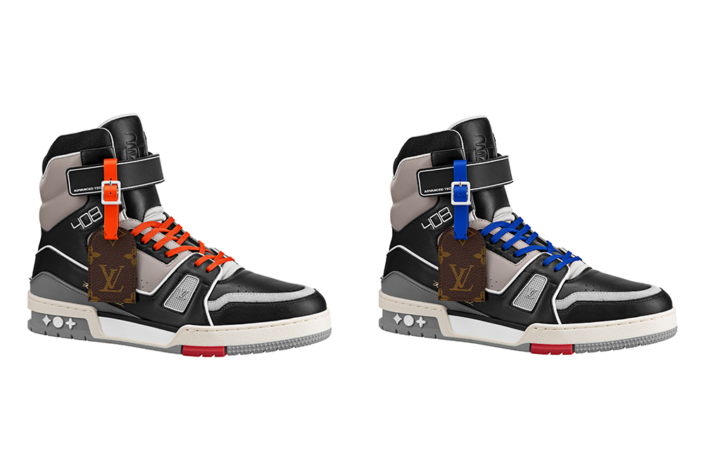 The Chicago and New York editions of Louis Vuitton's 409 Global Trainers.