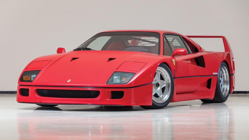 A 1992 Ferrari F40.